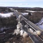 Skjeggestad bro fra luften