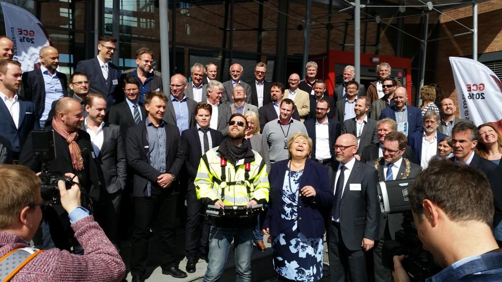 Orbiton flies for Norwegian Prime Minister